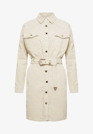 Shirt dress - bone
