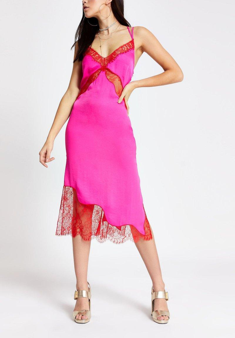 River Island - Vestido de cóctel - pink