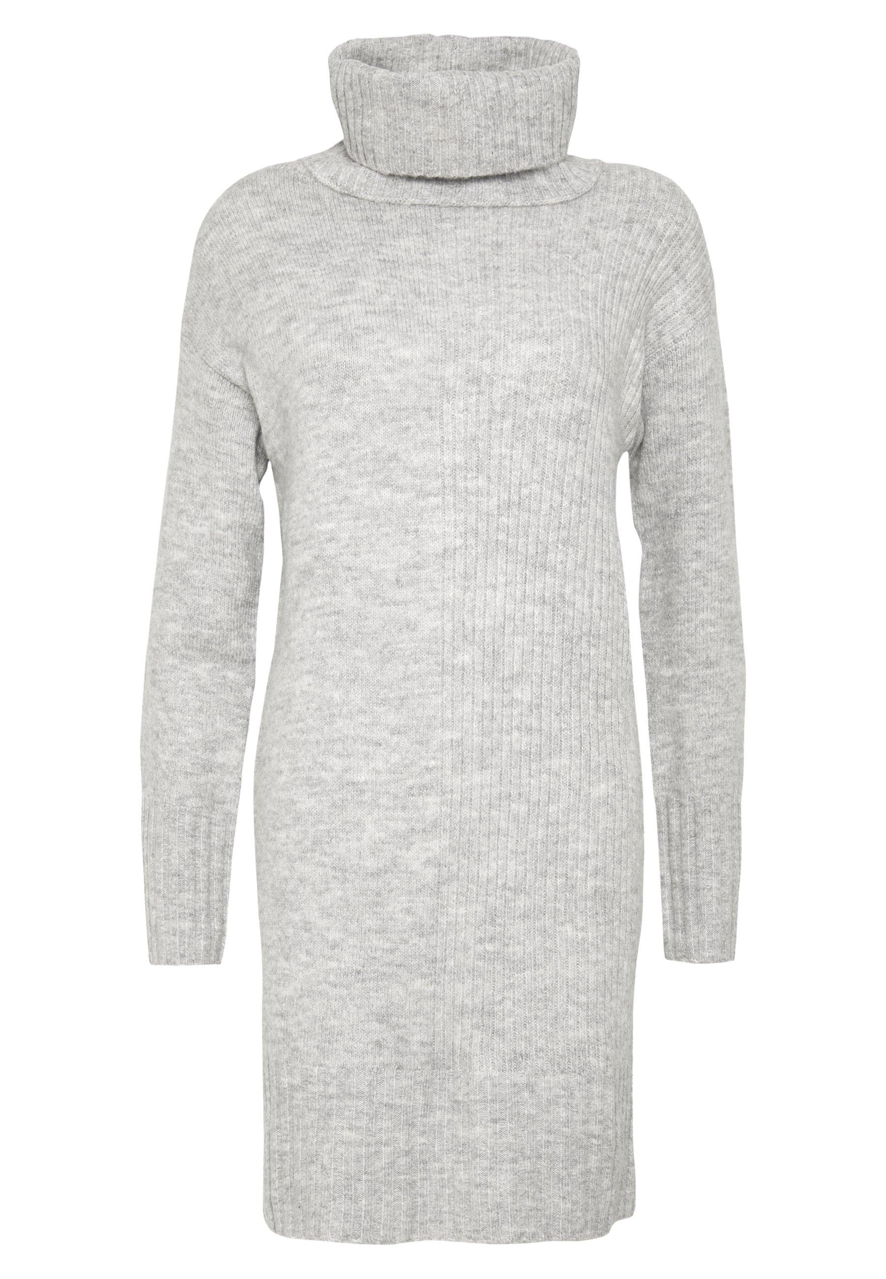 River Island CAZ SNOOD DRESS - Vestido de punto - grey