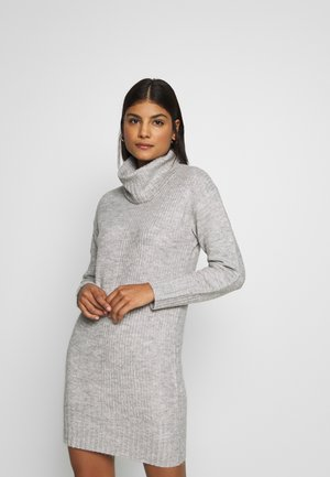 CAZ SNOOD DRESS - Pletené šaty - grey