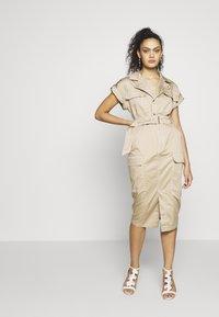 River Island - Shirt dress - beige - 1
