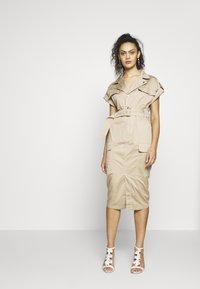 River Island - Shirt dress - beige - 0