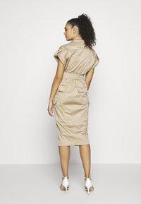 River Island - Shirt dress - beige - 2