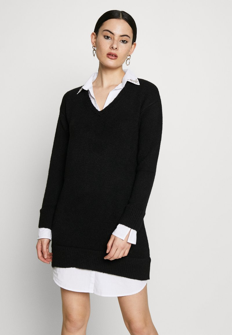 River Island - Shirt dress - black
