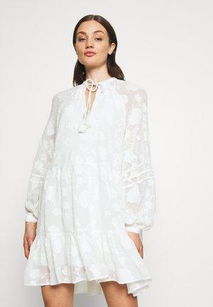 ROSINALS SMOCK SPECIAL FABRIC TIE NECK DRESS - Vardagsklänning - white