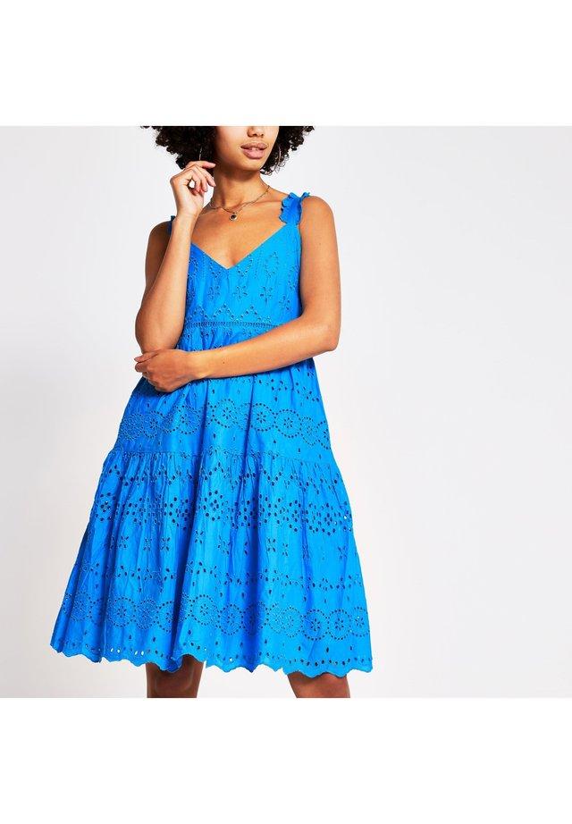 BRODERIE - Vestido informal - blue