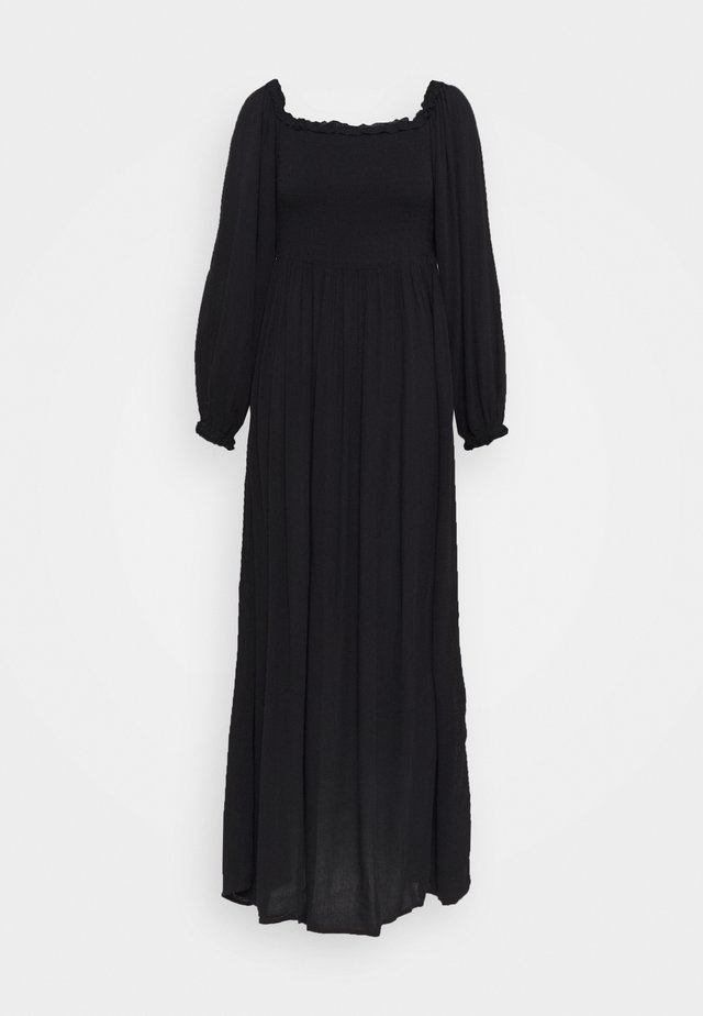 SHEERED BARDOT MAXI - Maxi dress - black