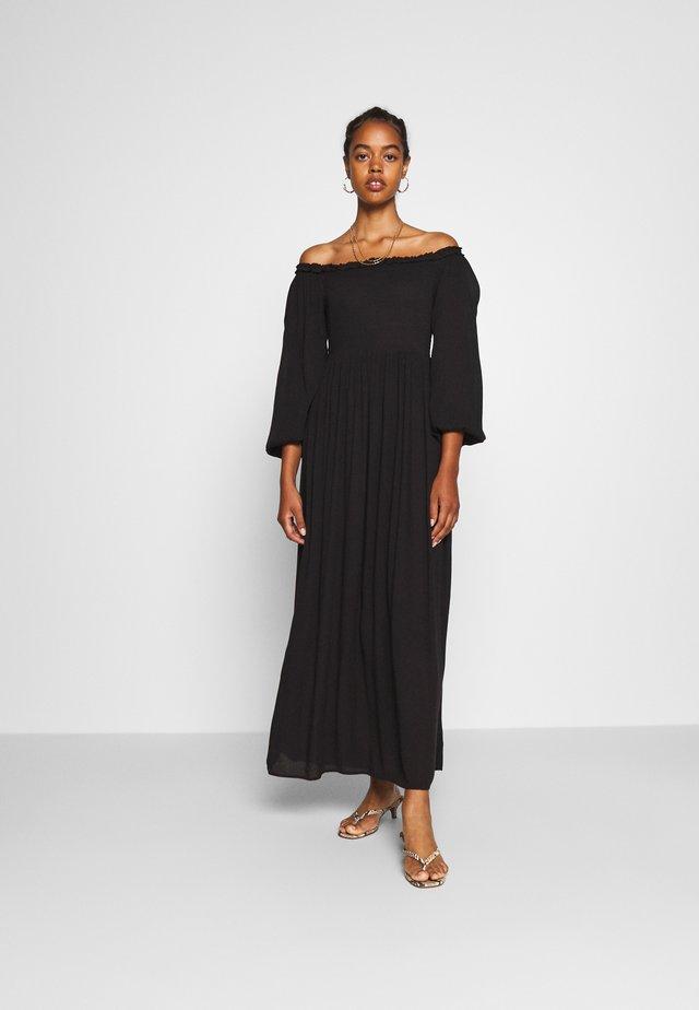 SHEERED BARDOT MAXI - Maxi dress - black