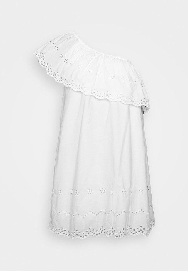 ONE SHLDER CUT WORK MINI DRESS - Sukienka letnia - white