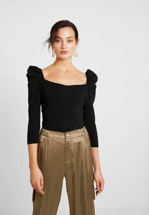 BROOKE - Maglietta a manica lunga - black