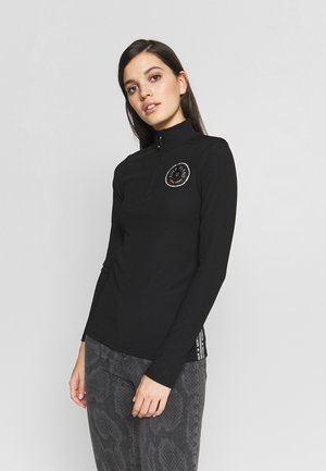 HIGH NECK BADGE - T-shirts med print - black