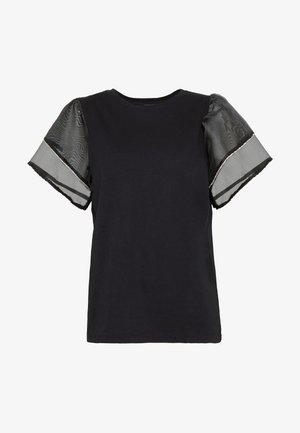 FRILL DIAMANTE - T-shirt z nadrukiem - black