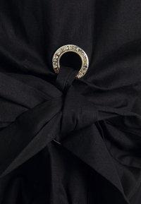 River Island - BLACK LAMOUR PARIS POPLIN TIE TEE - Print T-shirt - black - 2