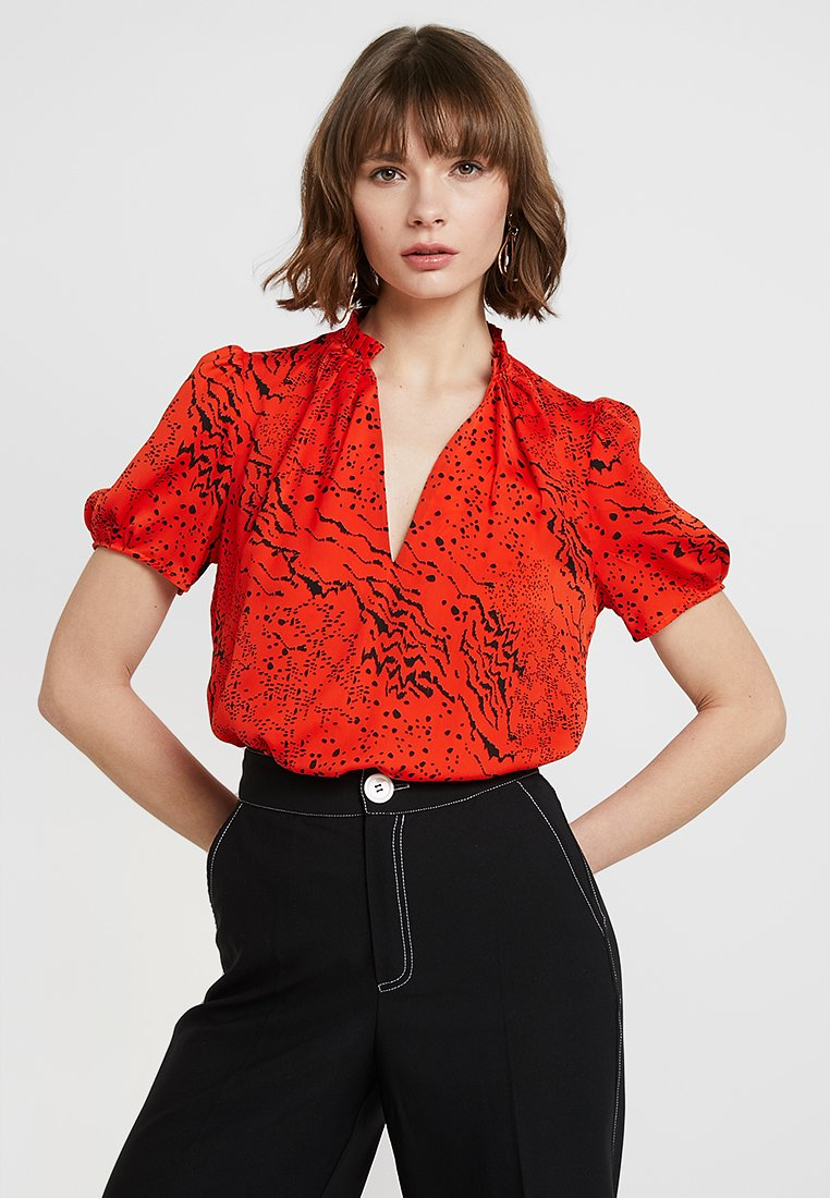 River Island - Blouse - red print