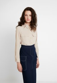 River Island - Button-down blouse - cream dark - 0