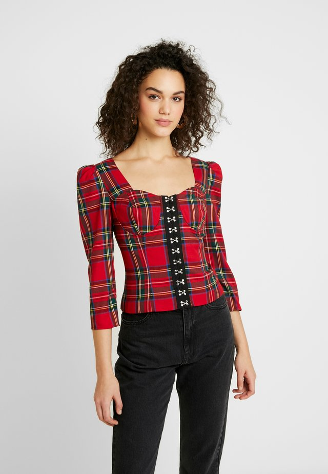CORSET - Blus - red
