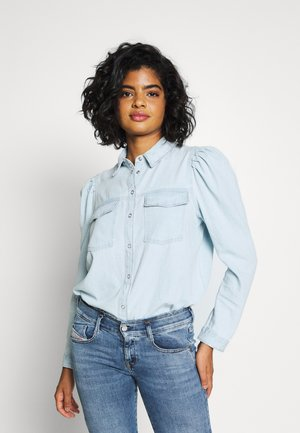 Button-down blouse - light-blue denim