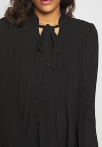 River Island - AVA PLISSE PUSSYBOW TOP - Blouse - black - 5