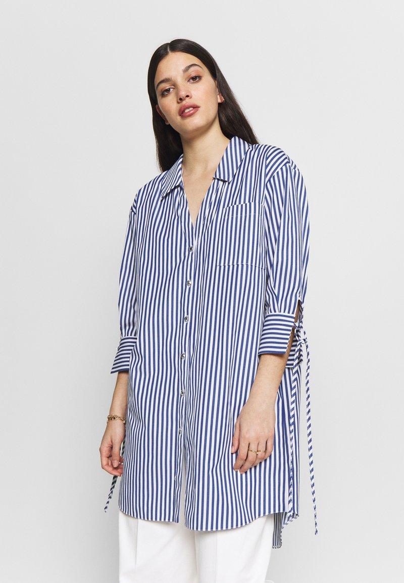River Island - RICH SHIRT - Button-down blouse - blue