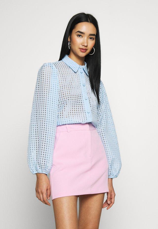 CHARLIE ORGANZA - Button-down blouse - blue