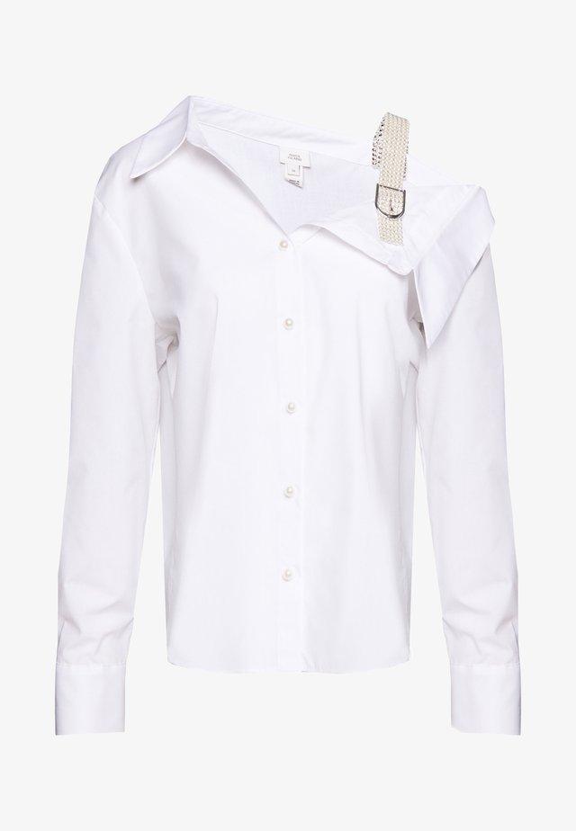 EFFIE STRAP SHIRT - Bluzka - white
