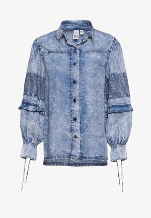 Blouse - blue acid wash