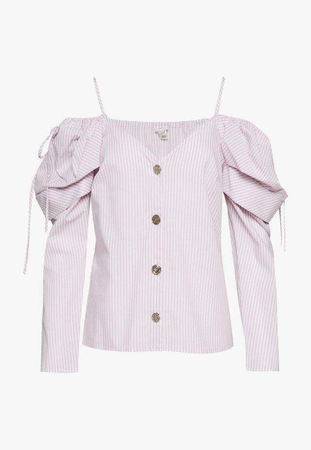 POPLIN BARDOT - Bluzka - pink