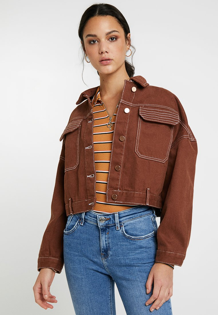 River Island - Denim jacket - tobacco