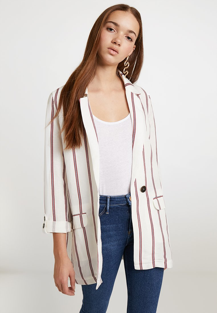 River Island - STRIPE SOFT WILMA - Blazer - red
