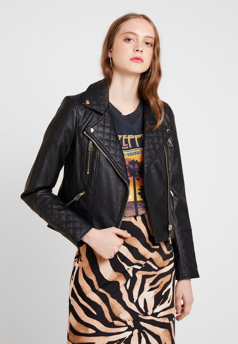 River Island - Faux leather jacket - black