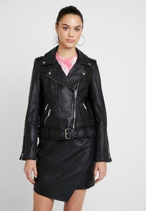 SONIA PREMIUM BIKER - Leather jacket - black