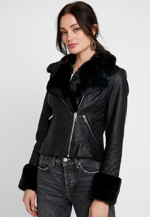 Giacca in similpelle - black