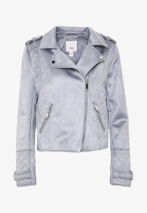 Faux leather jacket - blue light