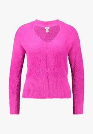 Strikkegenser - pink bright
