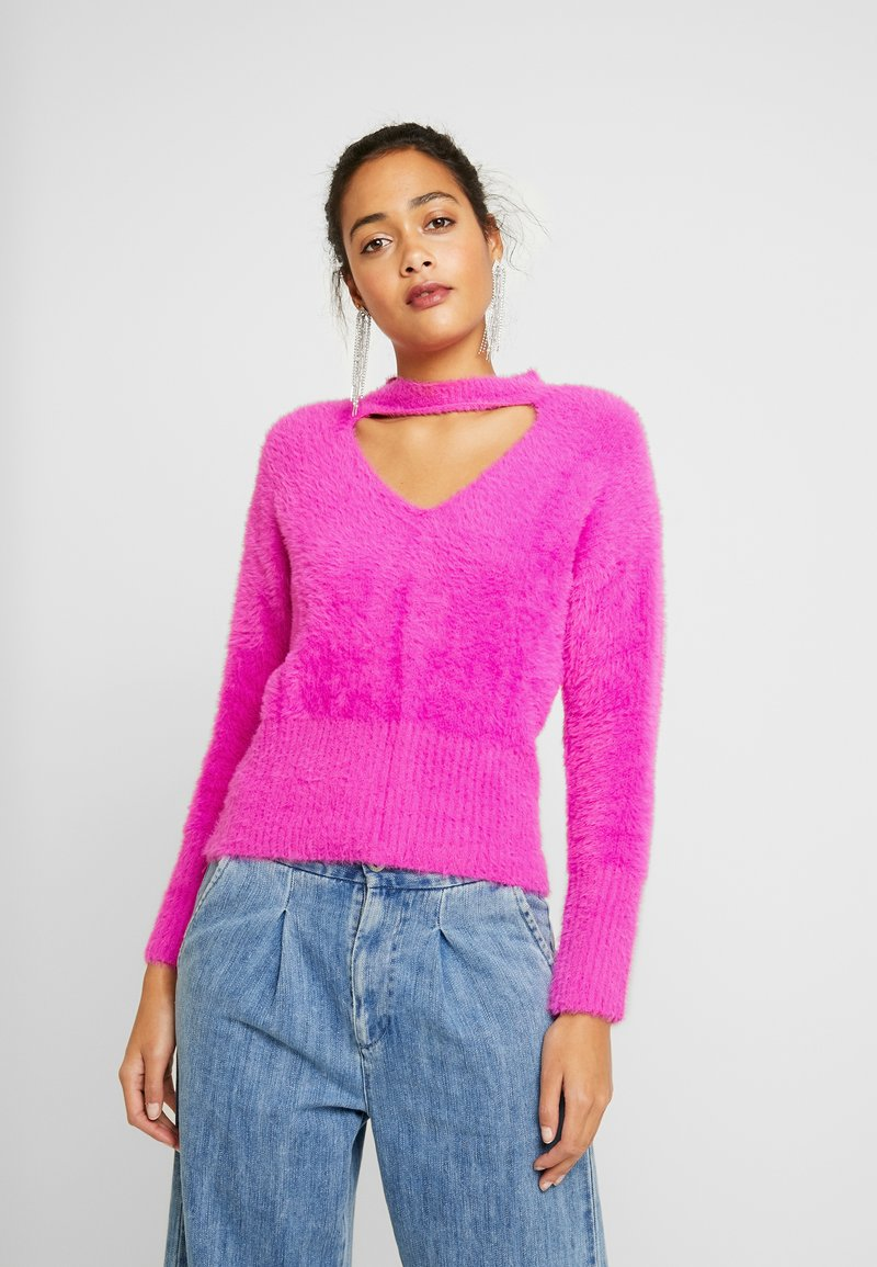 River Island - Strikkegenser - pink bright