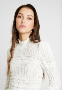 River Island - LUCY STITCH PUFF SLEEVE - Kofta - cream
