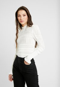 River Island - LUCY STITCH PUFF SLEEVE - Kofta - cream - 0