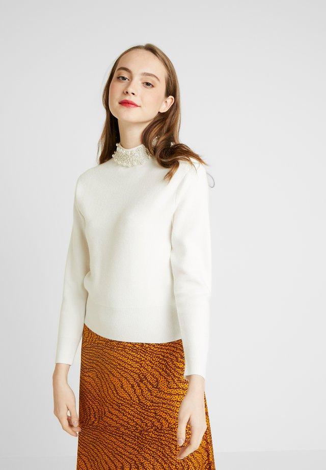 MACIE PEARL COLLAR - Stickad tröja - cream