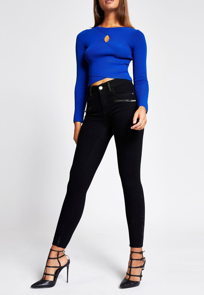 River Island - KEYHOLE  - Pullover - blue