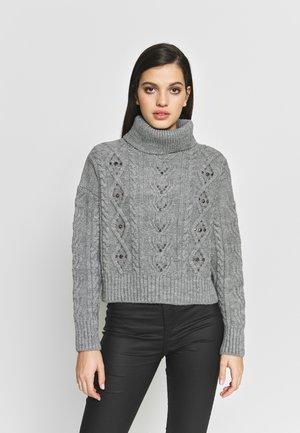 Strikkegenser - grey light