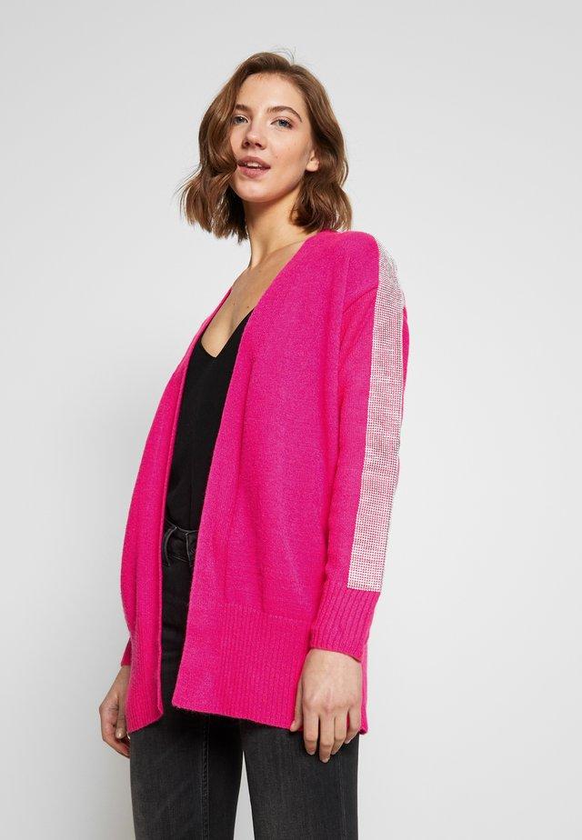 KACIE CUFF CARDI - Cardigan - pink bright