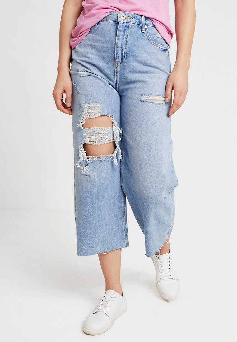 River Island - Flared Jeans - light-blue denim