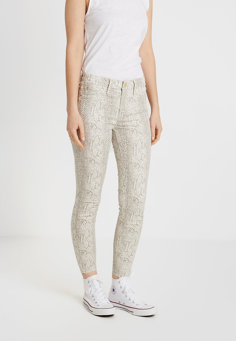 River Island - Jeans Skinny Fit - beige/white