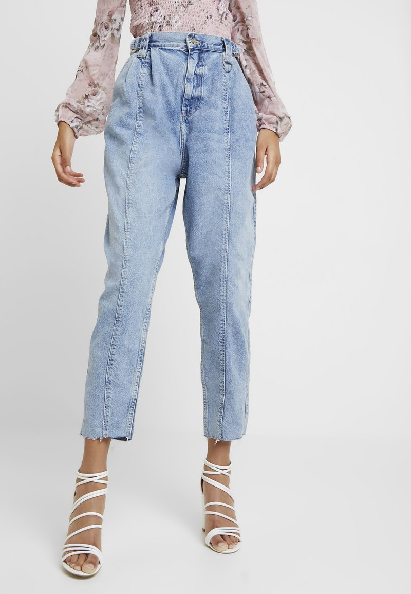 River Island - Jeansy Relaxed Fit - blue denim