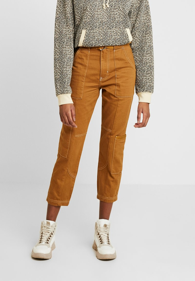 River Island - Slim fit jeans - brown