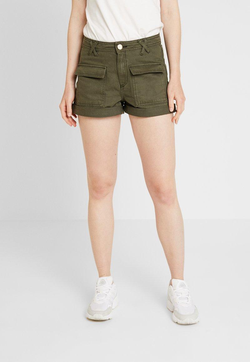 River Island - Denim shorts - khaki