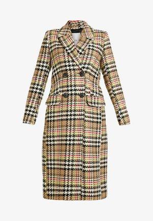Classic coat - fluro check