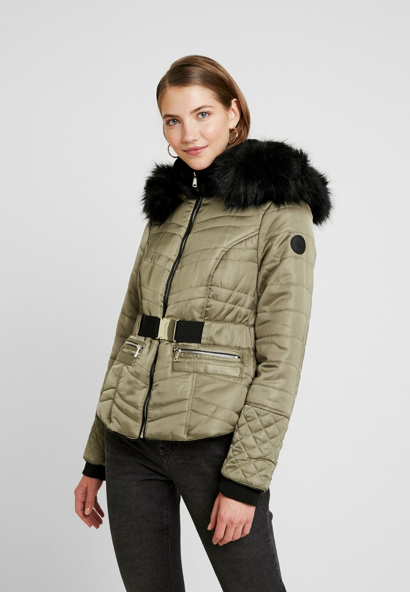 River Island - TATIANA PADDED JACKET - Light jacket - khaki