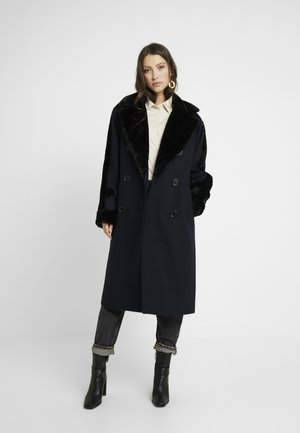BELLA SHEARLING COAT - Abrigo - navy