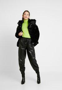 River Island - SEQUIN PUFFER - Classic coat - black - 1